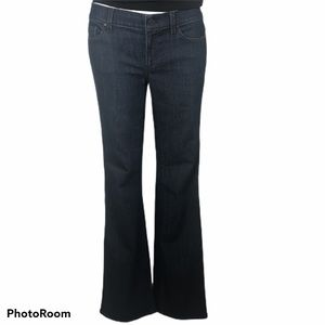 Ann Taylor Modern Fit Bootcut Jeans 6 Dark Wash